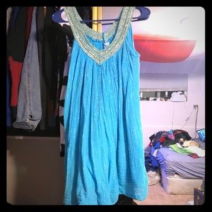 Dresses & Skirts - Greek blue Jasmine mermaid sleeveless dress OSFA